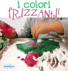 Quandofuoripiove: un esperimento scientifico: i colori frizzanti