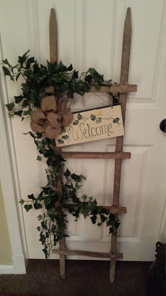Tobacco Stick Welcome Ladder by UNIQUEBOUTIQUE9214 on Etsy