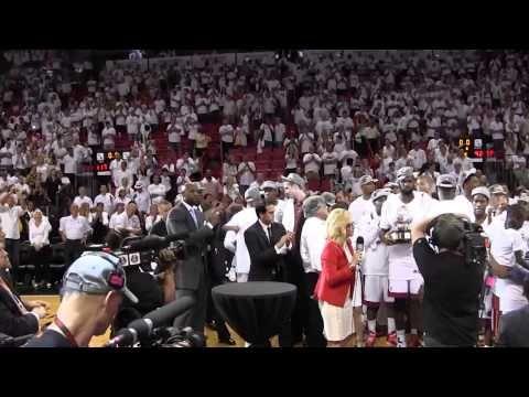 Miami Heat celebrates Eastern Conference title-- #ProBasketballMiamiHeat