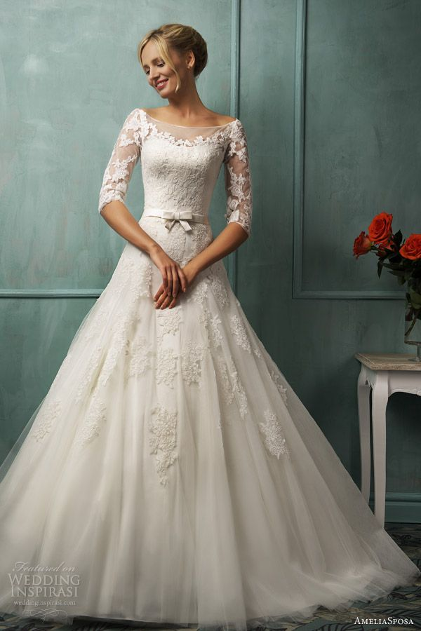 Amelia sposa bridal 2014 donatela wedding dress sleeves.