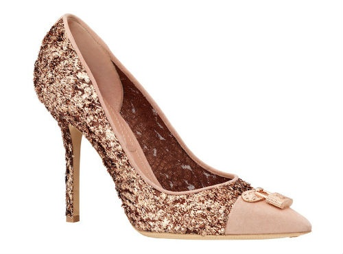 Check Out These Bronzed And Blingy Pumps From Louis Vuitton Wedding Bling