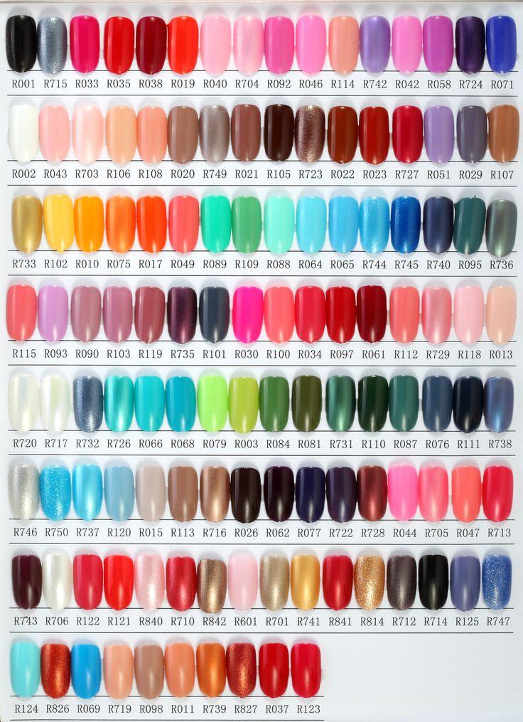 one step gel polish color chart 1 r s nail gel polish nail art pinterest gel polish colors. Black Bedroom Furniture Sets. Home Design Ideas