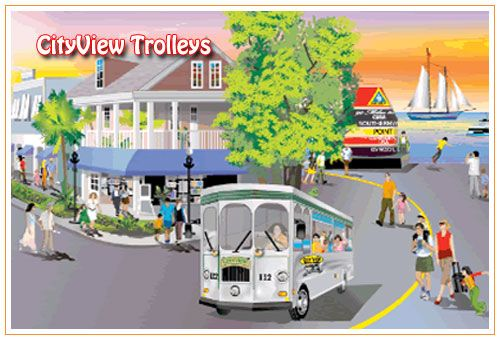 Ride CityView Trolleys Through The Streets Of Key West | Bed & Breakfasts in Key West, Key West Hotels, Key West Motels, Key West Accommodat...