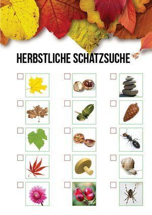 Kinder-Auslüften im Herbst: Herbstliche Schatzsuche mit Checkliste