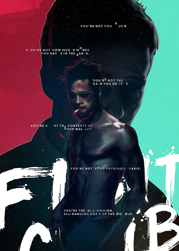 An Alternative Movie Poster For The Film Fight Club Created By Tibor Lovas Featured On AMP