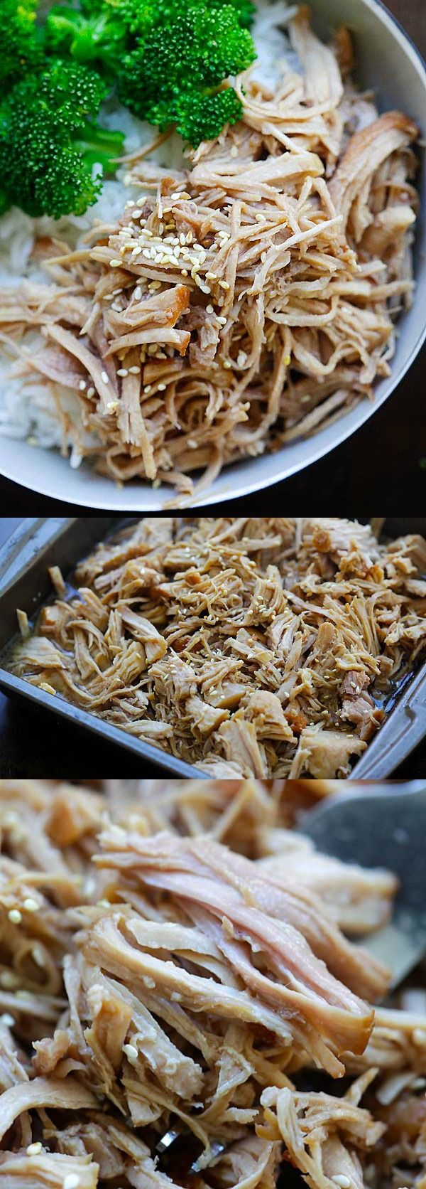 Hawaiian Kalua Pork (Instant Pot) - tender and juicy pressure cooker Hawaiian Kalua pork recipe. 10 mins active time and dinner is done | rasamalaysia.com