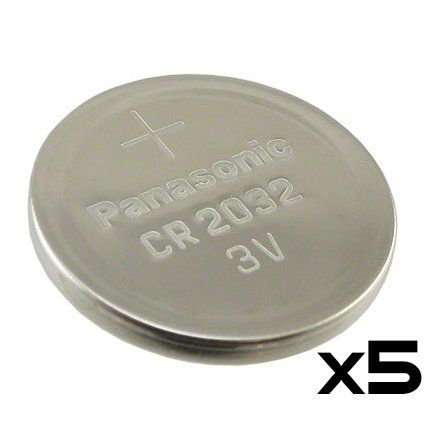 Save $4.00 on 5 Pack -- Panasonic Cr2032 3v Lithium Coin Cell Battery Dl2032 Ecr2032; only $5.99