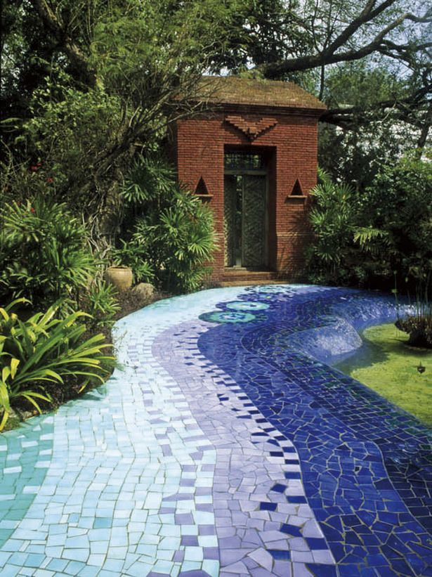 Mosaic Path: Create a high-impact look with a mosaic path designed to look like flowing water. From HGTV.coms Garden Galleries