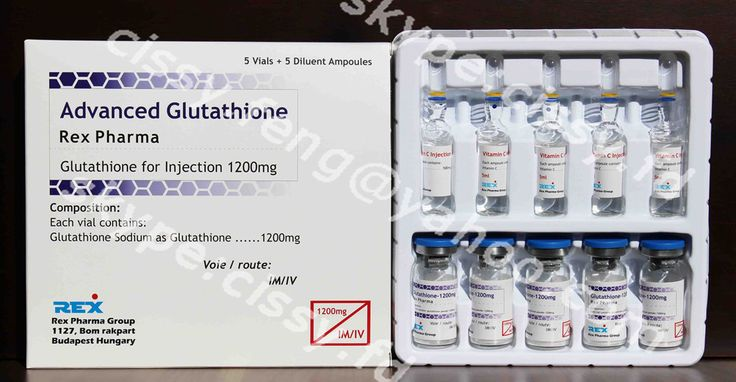 1200mg Glutathione for injection package: 5vials+5ampoules/tray/box shlef life: 36months
