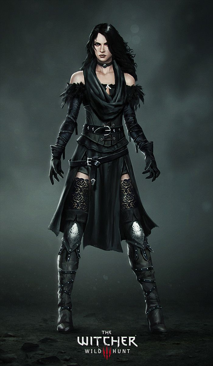 The Witcher 3: Wild Hunt Yennefer Costume, Marek Madej on ArtStation at https://www.artstation.com/artwork/50N8w