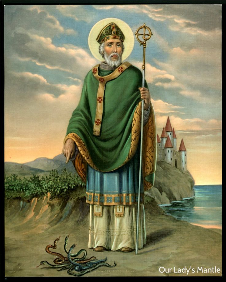 """""""Patrick, Missionary to Ireland, is one of the best-known of the missionary saints. Born to a Christian family in Britain around the year 389, he was captured as a teenager, taken to Ireland, and forced to serve as a herdsman. After six years he escaped to France. Ordained in 432, he returned to Ireland and spent the rest of his life spreading the Gospel. He strongly defended the doctrine of the Trinity. His legacy includes his autobiography and several hymns. Patrick died around the year…"""