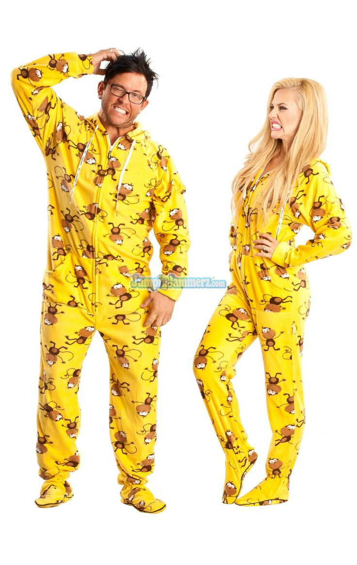 Adult Male Footie Pajamas Breeze Clothing