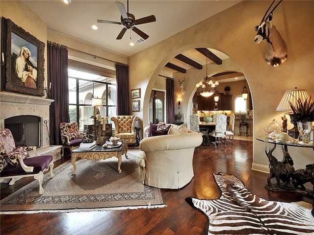 Safari Chic Living Room By Jill Harrison Interior Design