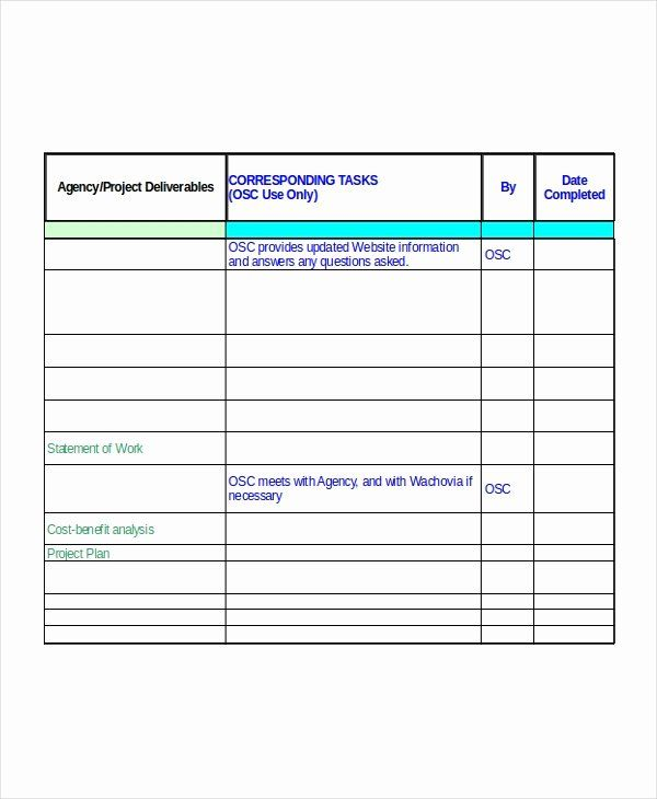 Implementation Plan Template Excel Fresh Excel Project Plan