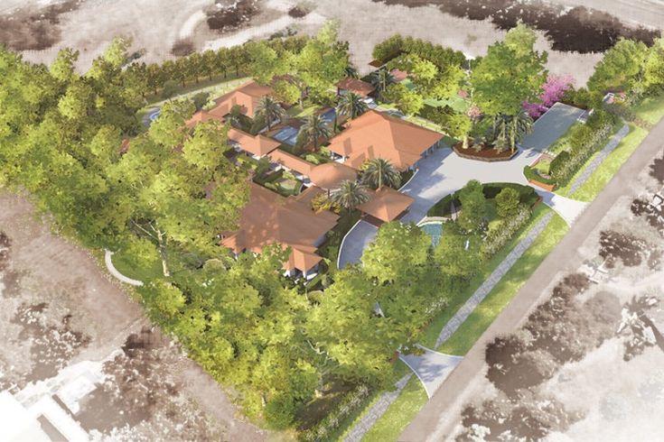 Landscape design for private residential estate.