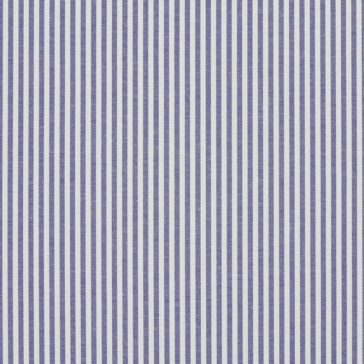 A559 Denim Blue and White Ticking Stripes Cotton Upholstery Fabric By The Yard