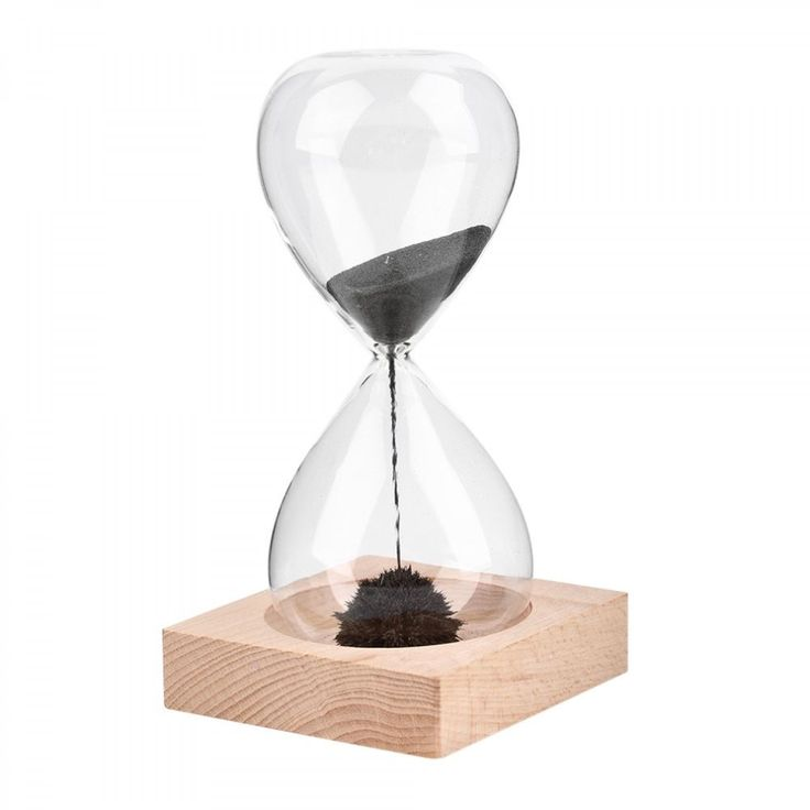 Sand Hour Glass Timer Clock Hand Blown Magnetic Crafts Home Decoration Gift New #Unbranded