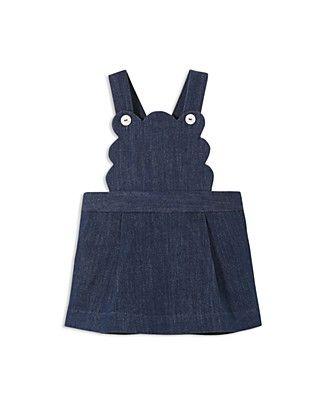 Jacadi Girls' Denim Overall Dress - Baby
