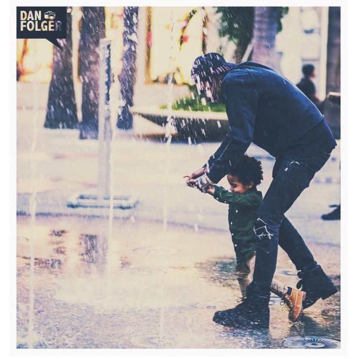 Wiz Khalifa and his son Bash