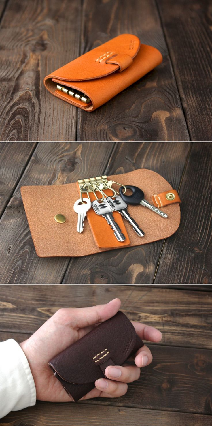 leather key case | Duram Factory...Reminds me of my Dad, I so remember his keys in something like this.