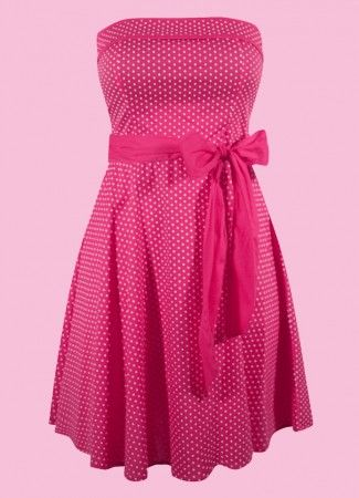 retro style pin up dress-fuchsia