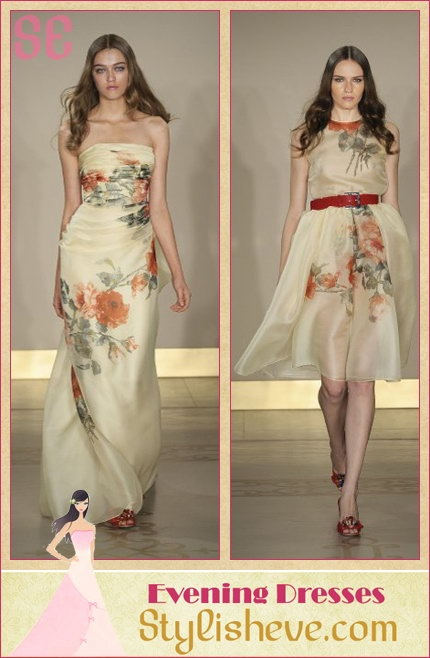24b2842c74 ... Cotton Nightdress buy online 8e0c2 c6cd5  Reem Acra Floral Gown Spring  2010 reputable site ce5f8 af3ed ...