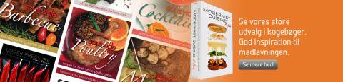 Vi har også et godt udvalg af Sous Vide kogebøger med lækre opskrifter til fantastiske priser! KLIK HER FOR AT SE...