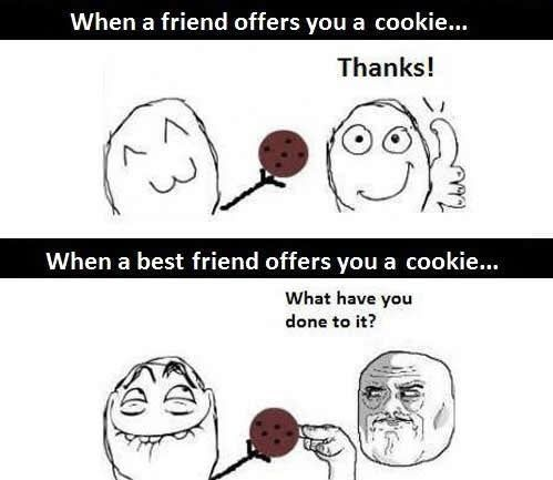Friend Vs Best Friend Funny Picture Too True