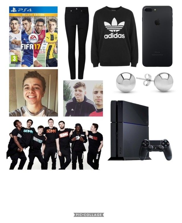 """""""Starting a FIFA series with the sidemen, chrismd, theburntchip and JMX"""" by sidemen ❤ liked on Polyvore featuring Sony, adidas and Jewelonfire"""