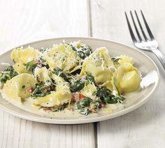 Tortellini met spinazie en mascarpone-citroensaus