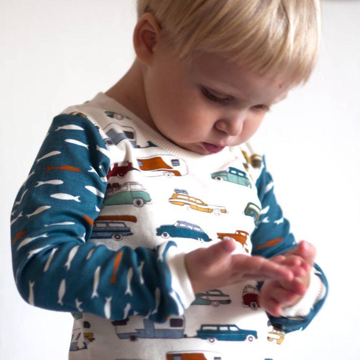 Detské oblečenie - BIO tričko Na ryby automobilem - www.sashe.sk/nadoma_a_naven