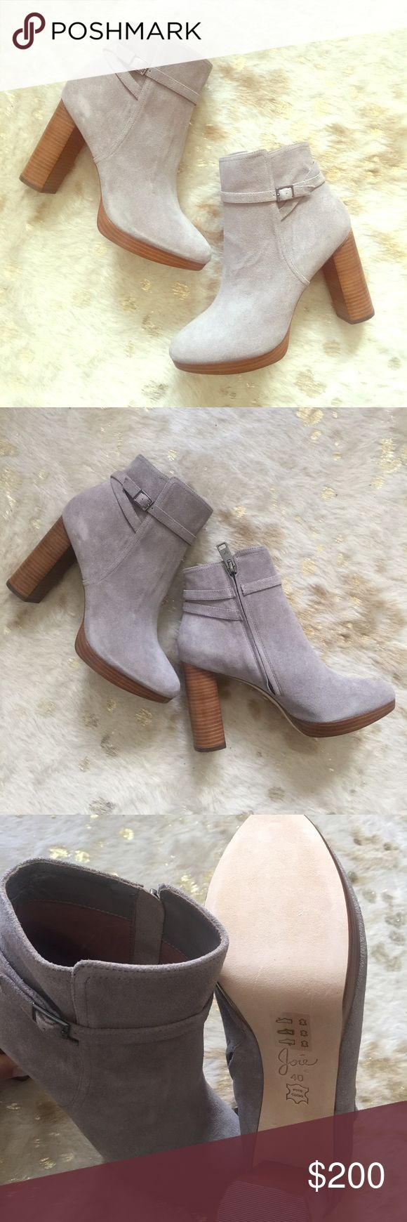 🐩Joie Suede Boots🐩 I can't describe how gorgeous and soft these are! Joie boots style Denez, color Dove (gray). Brand new in box, dust bag and card included. Joie Shoes