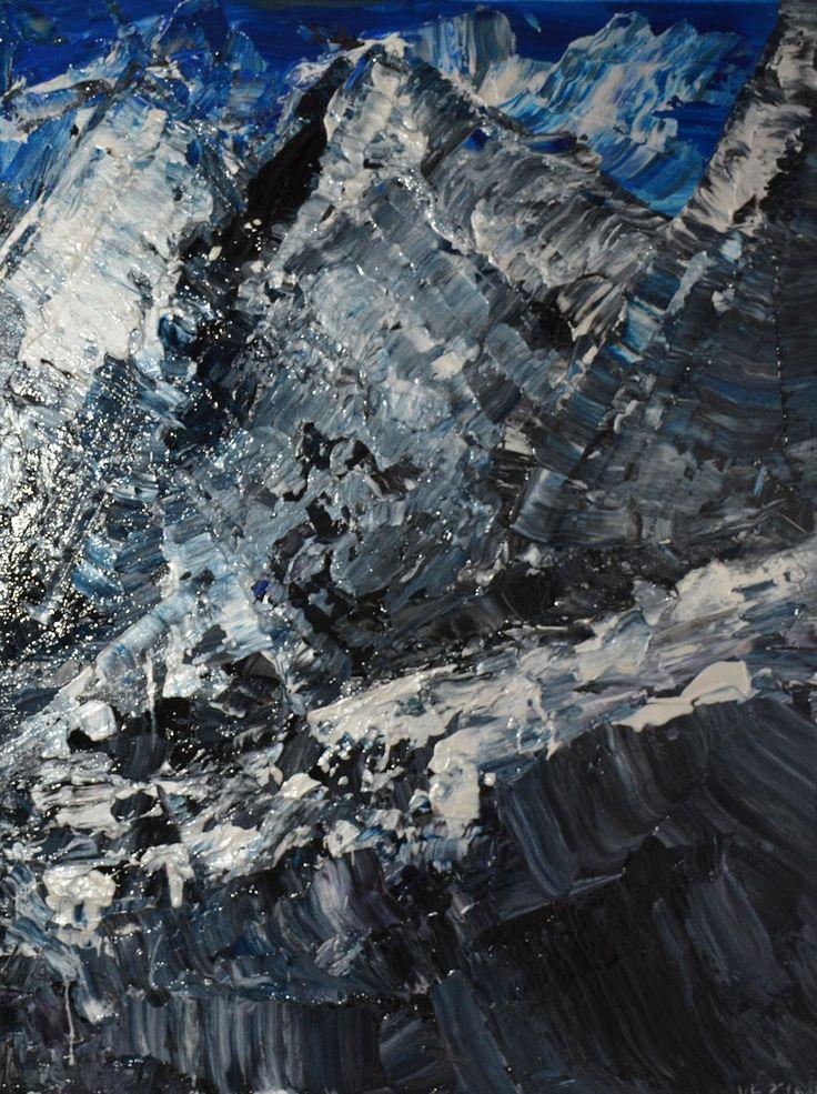 Diptyque : À la conquête des sommets enneigés (Droite)