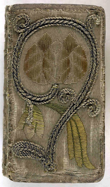 17th century embroidered satin book cover. The Booke of Psalmes (London, 1637) Collection: The British Library