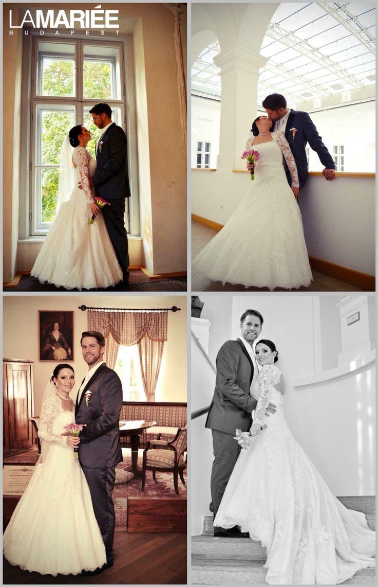 Basico esküvői ruha - Pronovias kollekció - Emese menyasszonyunk  http://mobile.lamariee.hu/eskuvoi-ruha/pronovias-2015/basico