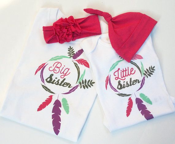 Big Sister Little Sister Outfits / Twin Outfits by LovBugBoutique