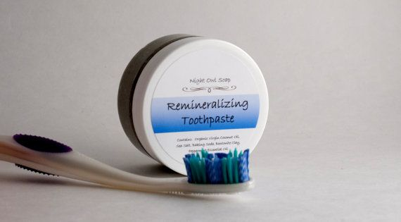 Remineralizing Toothpaste All Natural Flouride by NightOwlSoap