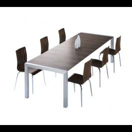 Deze grote tafel is een aanwinst voor uw woonkamer als een eettafel maar ook voor uw kantoor als een vergadertafel. Tumba tafel is tevens zeer functioneel dankzij de twee uitbreidingsstukken van 45 cm. onder het blad.