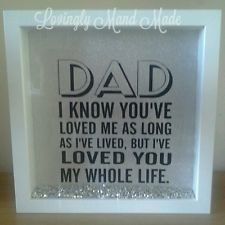 Fathers day gift present dad daddy vinyl box frame shadow box birthday | eBay
