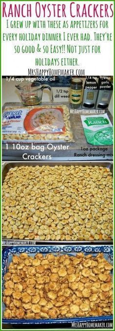 This homemade Ranch Oyster Cracker recipe is full of flavor and SO delicious. So easy to make and it's the perfect hostess gift of party snack! You won't be able to get enough of these!