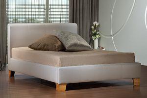 Birlea Brooklyn White Leather Super King Size Bed Frame £249