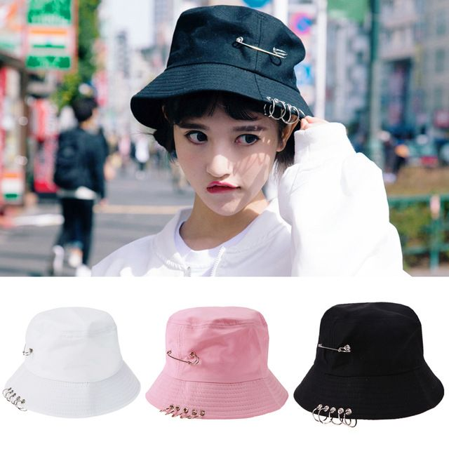 2017 Folding Hunting Fishing Fisherman Outdoor Cap Cool Unisex Iron Ring Bucket Hat Fisherman Hats for Men Women Outer Summer #KLV #Bucket_Hats #women_clothing #stylish_Bucket_Hats #style #fashion