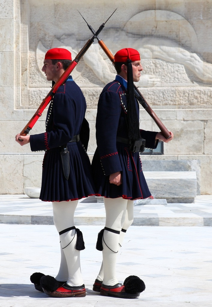 London guards don't have anything on the Greek guards, #Evzones. You can see them outside the Parliament Blvd, across from #Syntagma Square in #athens. Archaeologous.com offers guided day tours.