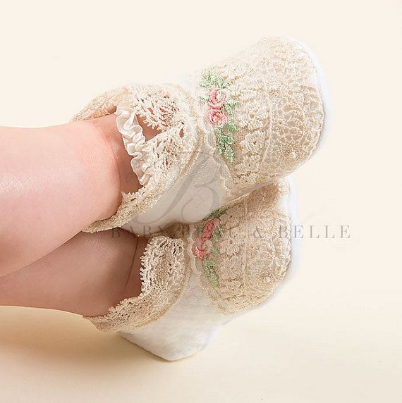 Chloe Newborn Booties by BabyBeauandBelle on Etsy