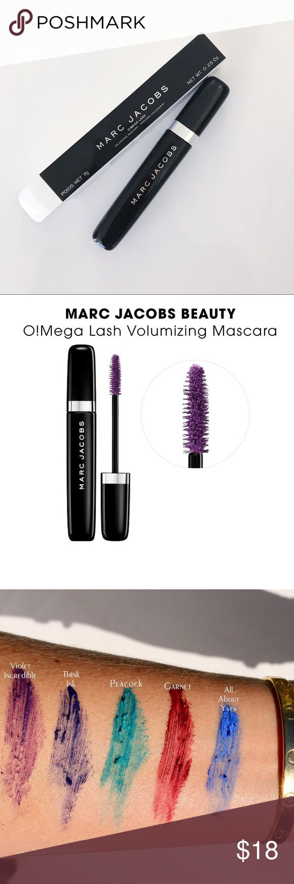 Marc Jacobs O!Mega Mascara in Violet Incredible Brand new never used Marc Jacobs O!Mega Lash Volume Mascara in Violet Incredible. Super pretty!! Marc Jacobs Makeup Mascara