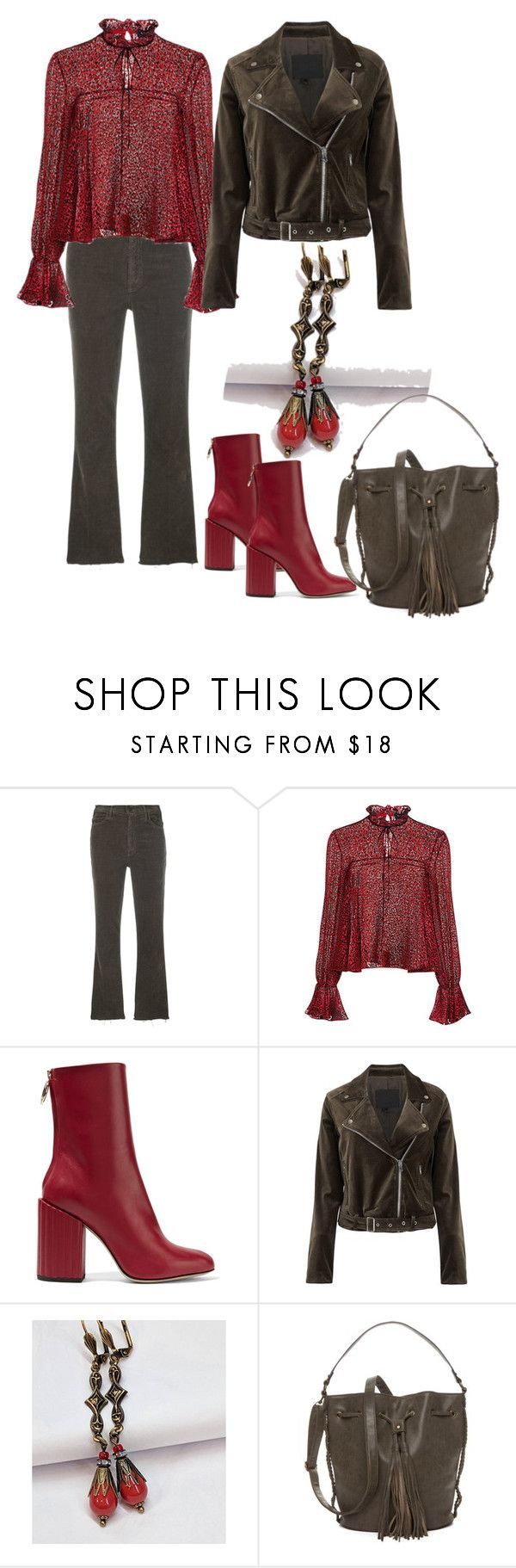 """""""Thursday's outfit, 11/2/17"""" by feralkind ❤ liked on Polyvore featuring Mother, Saloni, Petar Petrov, Paige Denim and True Craft"""