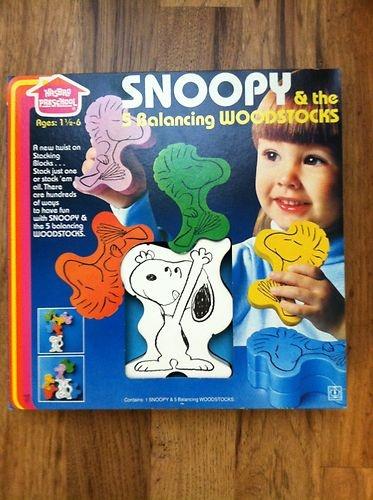 Vintage Snoopy The 5 Balancing Woodstocks Toy Peanuts Hasbro Woodstock in Box | eBay