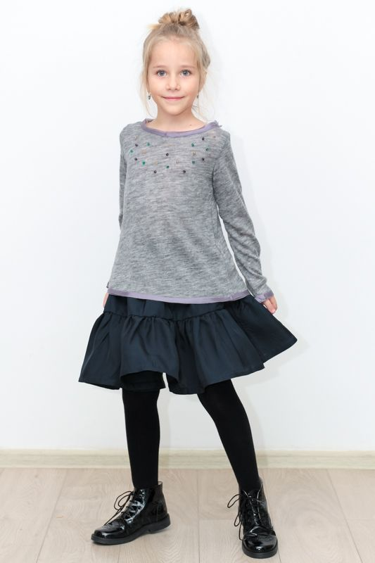 Our selection for cold days, wool pullover with silk finishes and accessorized with colorful bids. www.designersforkids.ro