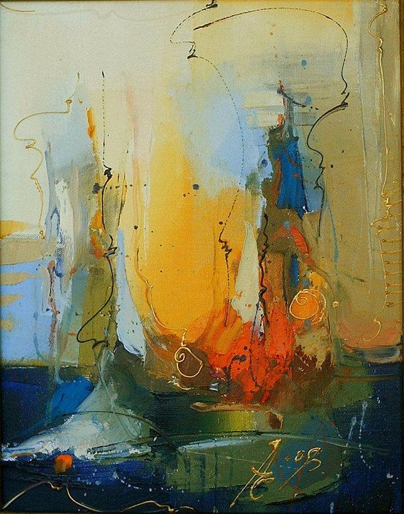 Oil Painting Original Art Abstract Art Abstract Landscape Painting