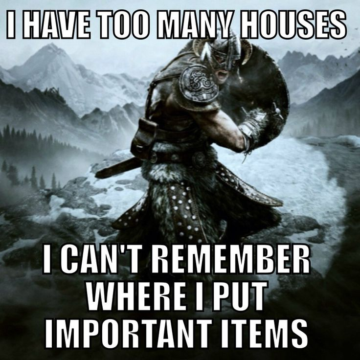 Skyrim Problems via Reddit user Jesus_Shaves_